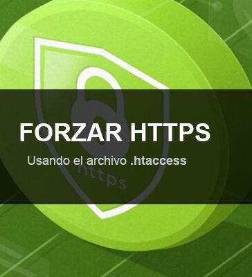 forzar HTTPS usando htaccess
